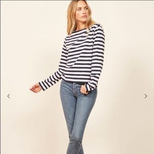 Reformation Sailor Tee - Size Small